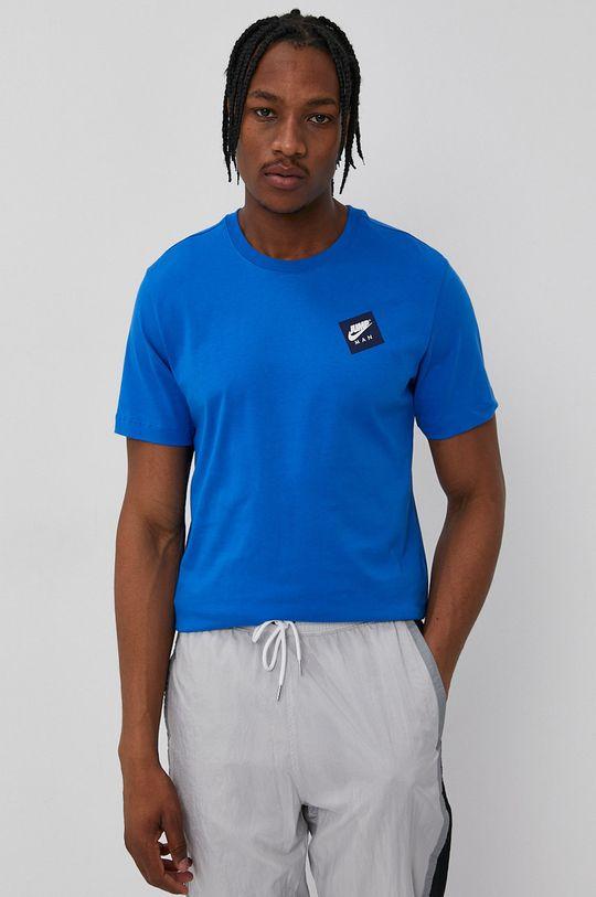 niebieski Jordan - T-shirt Męski