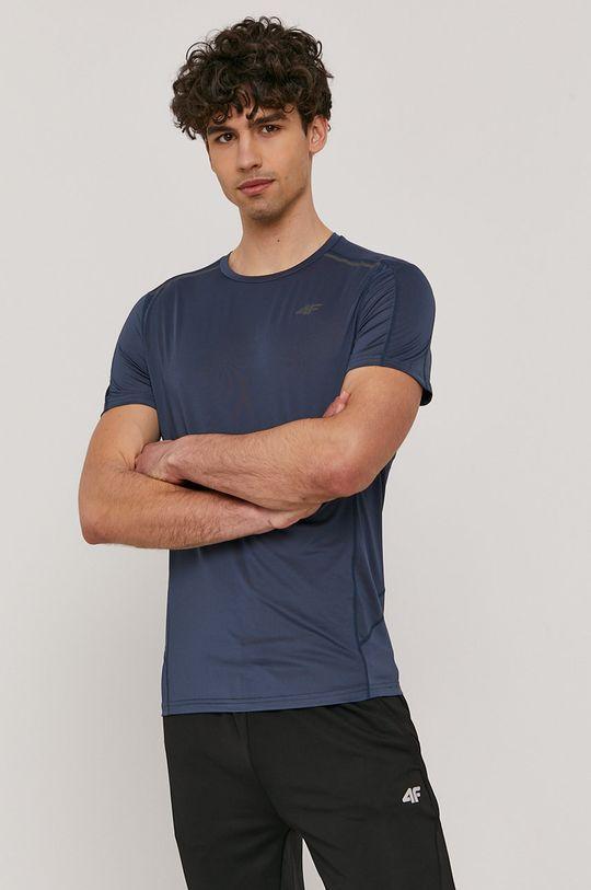 niebieski 4F - T-shirt Męski