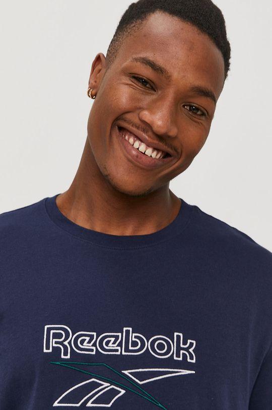 granatowy Reebok - T-shirt