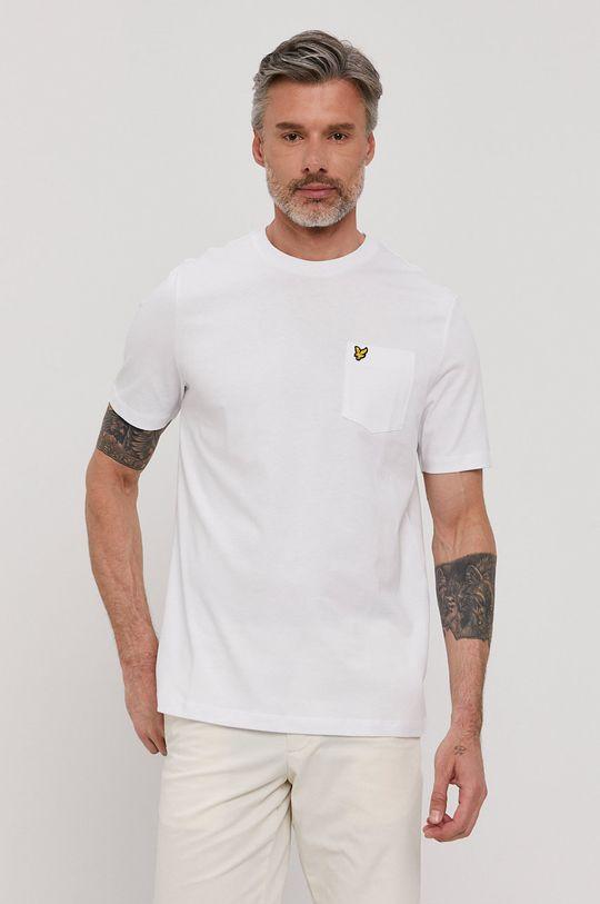 biały Lyle & Scott - T-shirt Męski