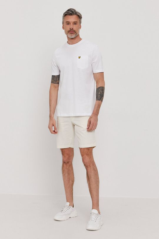 Lyle & Scott - T-shirt biały