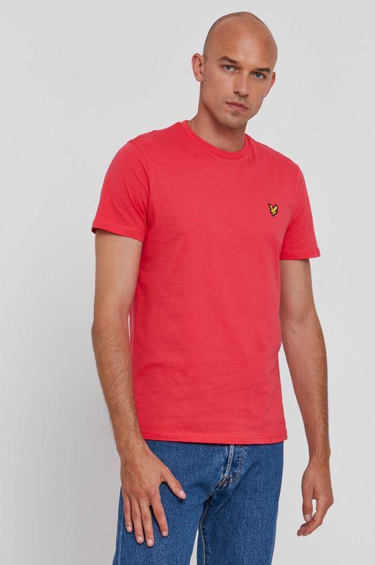 ostry różowy Lyle & Scott - T-shirt bawełniany Męski