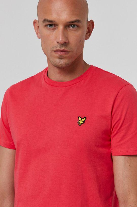 ostry różowy Lyle & Scott - T-shirt bawełniany