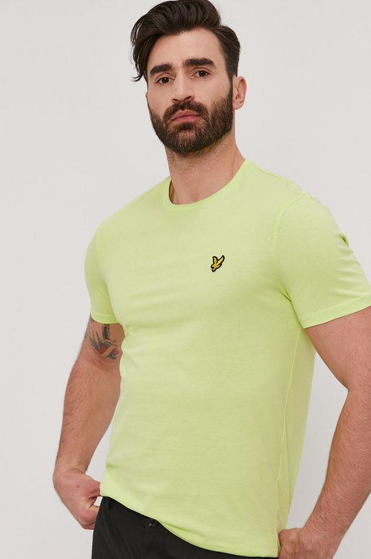 żółto - zielony Lyle & Scott - T-shirt Męski