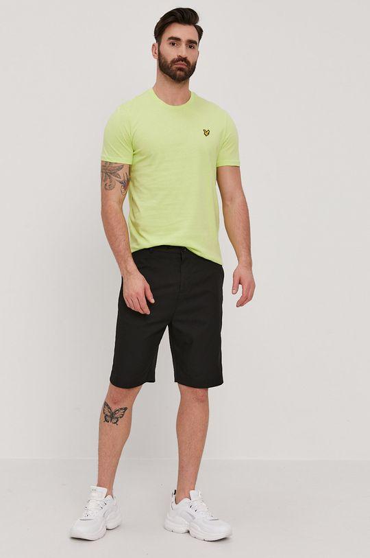 Lyle & Scott - T-shirt żółto - zielony