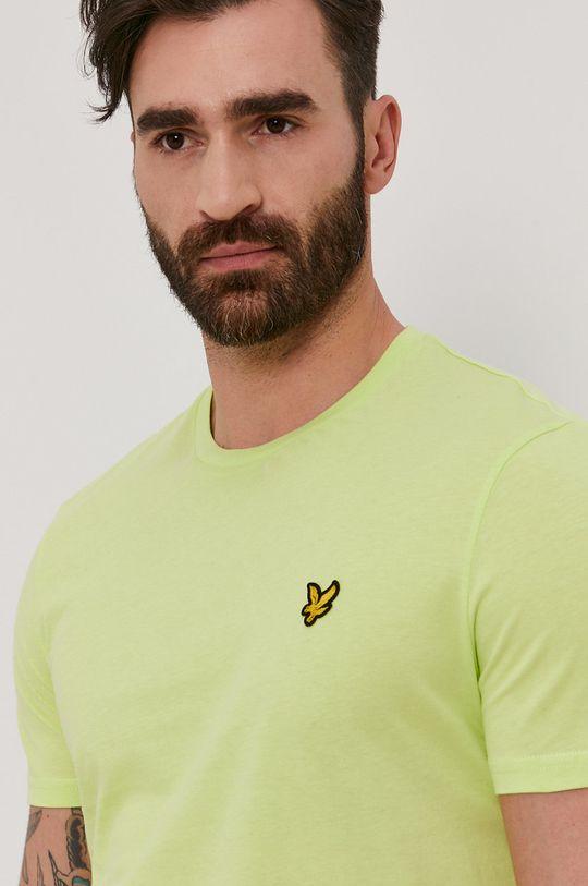 żółto - zielony Lyle & Scott - T-shirt