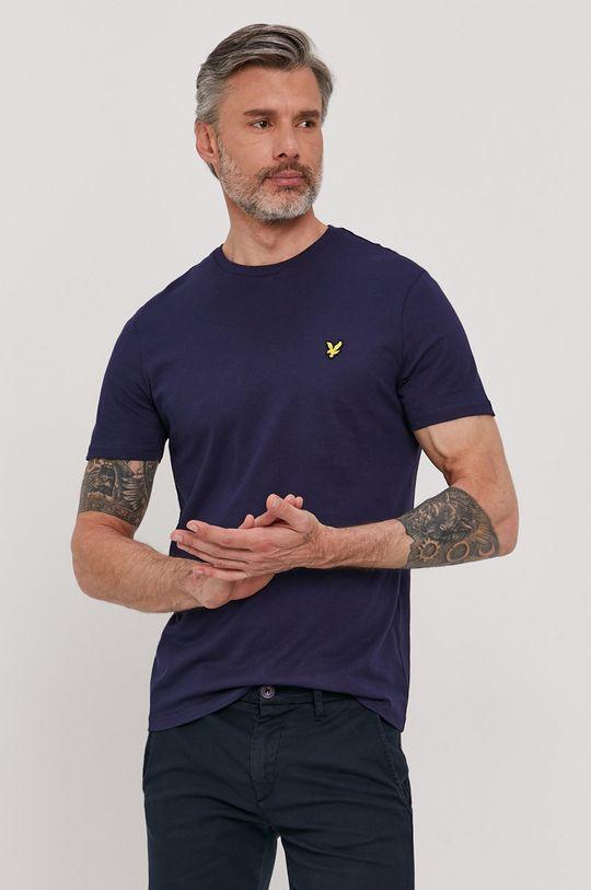 granatowy Lyle & Scott - T-shirt Męski