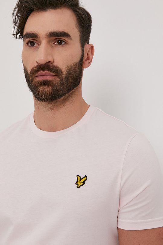 pastelowy różowy Lyle & Scott - T-shirt Męski