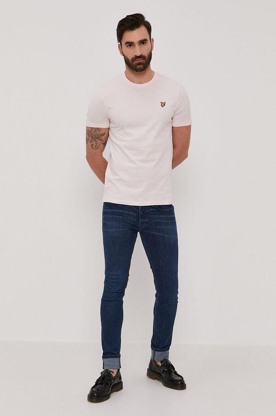 Lyle & Scott - T-shirt pastelowy różowy