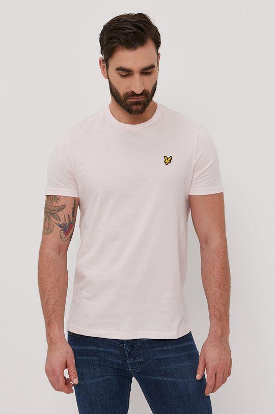 pastelowy różowy Lyle & Scott - T-shirt