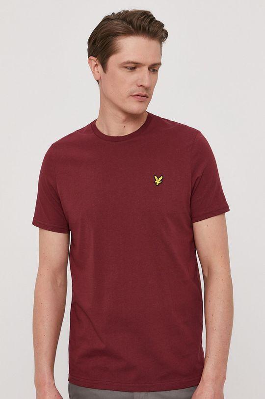 kasztanowy Lyle & Scott - T-shirt Męski