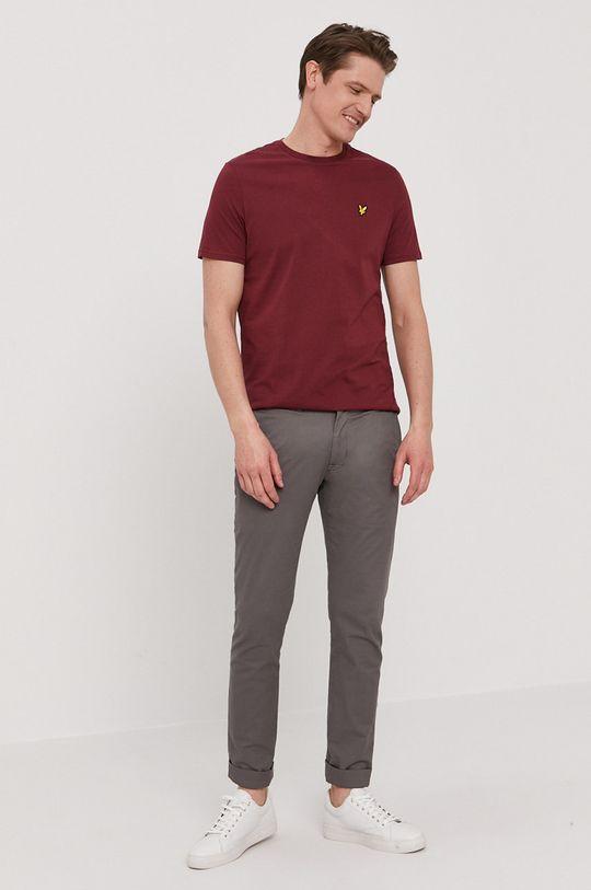 Lyle & Scott - T-shirt kasztanowy