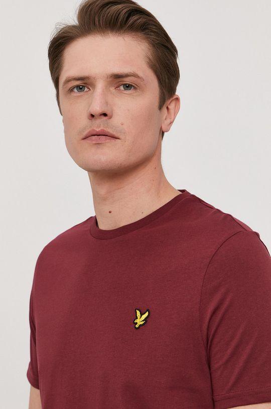 kasztanowy Lyle & Scott - T-shirt