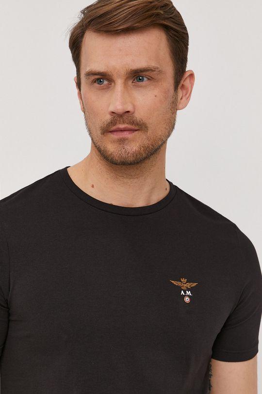 czarny Aeronautica Militare - T-shirt