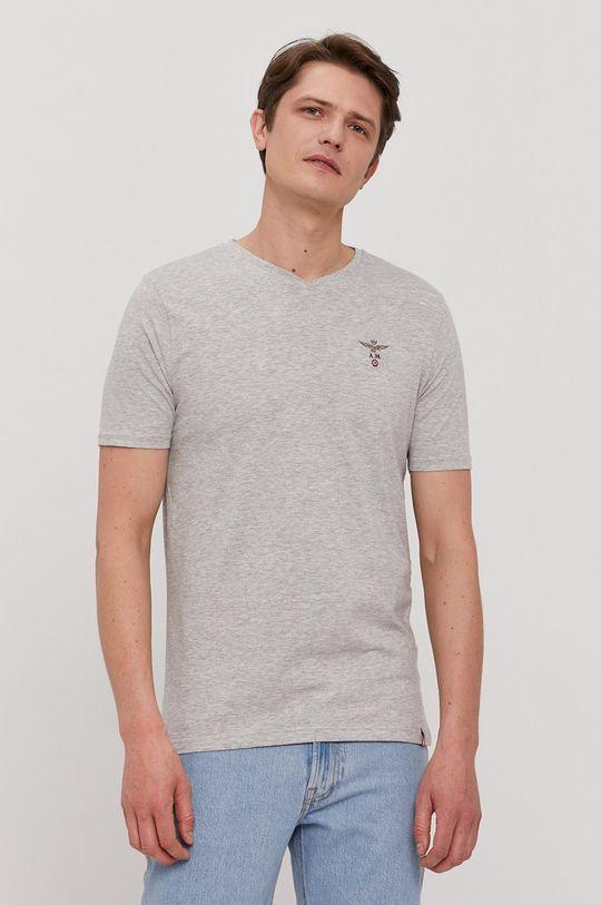 jasny szary Aeronautica Militare - T-shirt Męski