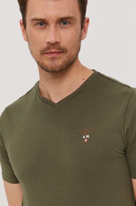 vojenská zelená Aeronautica Militare - Tričko