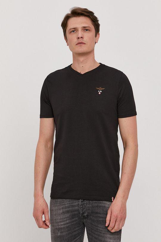 čierna Aeronautica Militare - Tričko Pánsky