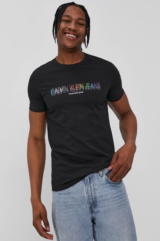 čierna Calvin Klein Jeans - Tričko Pánsky