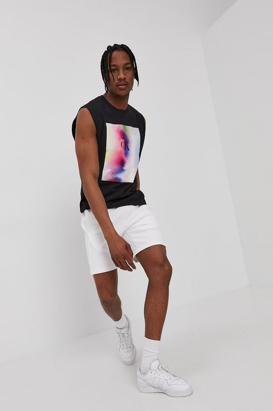 czarny Calvin Klein Jeans - T-shirt Męski