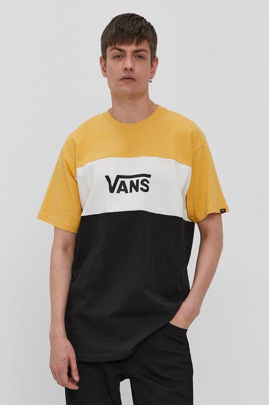 czarny Vans - T-shirt Męski