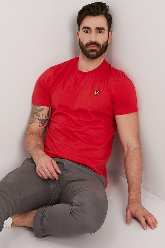 czerwony Lyle & Scott - T-shirt Męski