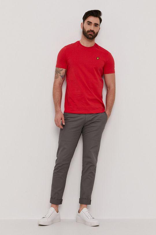 Lyle & Scott - T-shirt czerwony