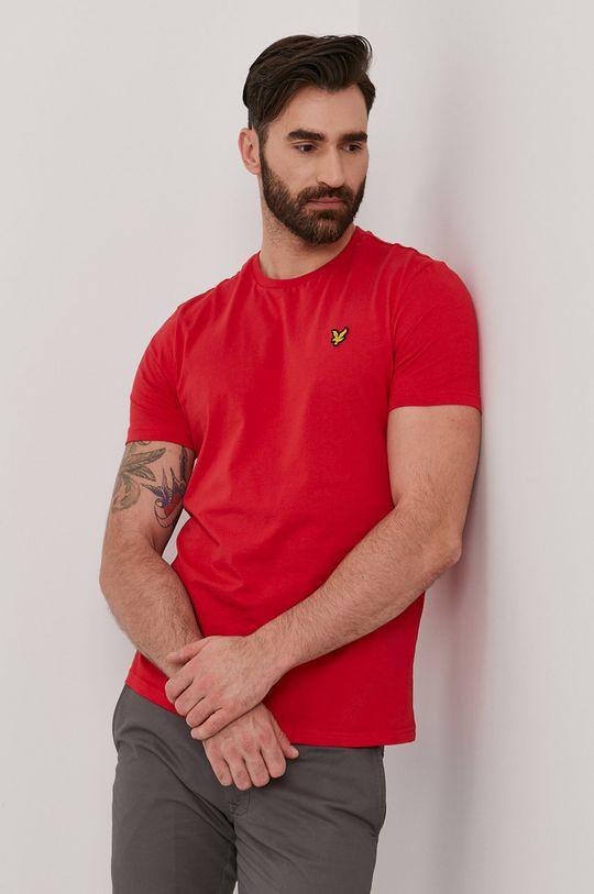 czerwony Lyle & Scott - T-shirt