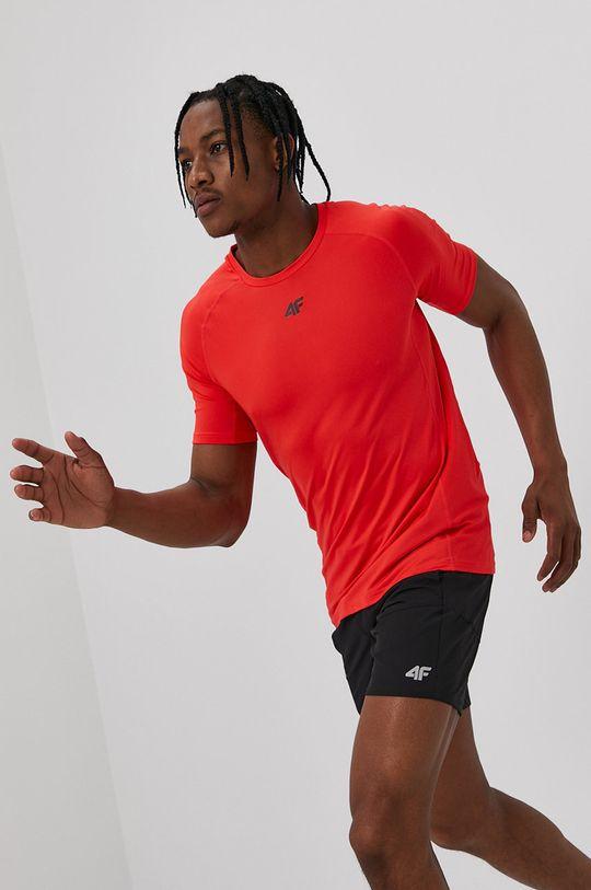 czerwony 4F - T-shirt Męski