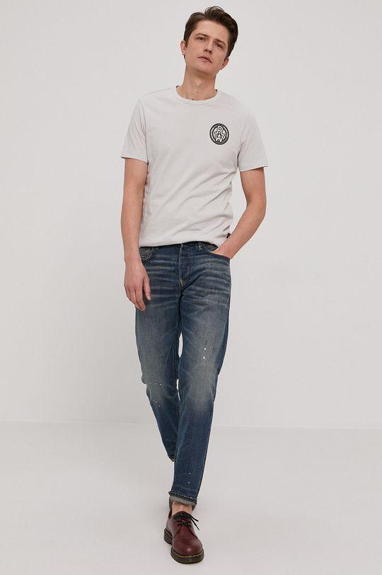 G-Star Raw - T-shirt jasny szary