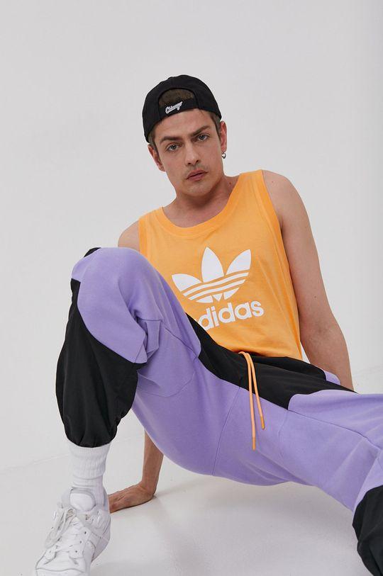 brzoskwiniowy adidas Originals - T-shirt Męski