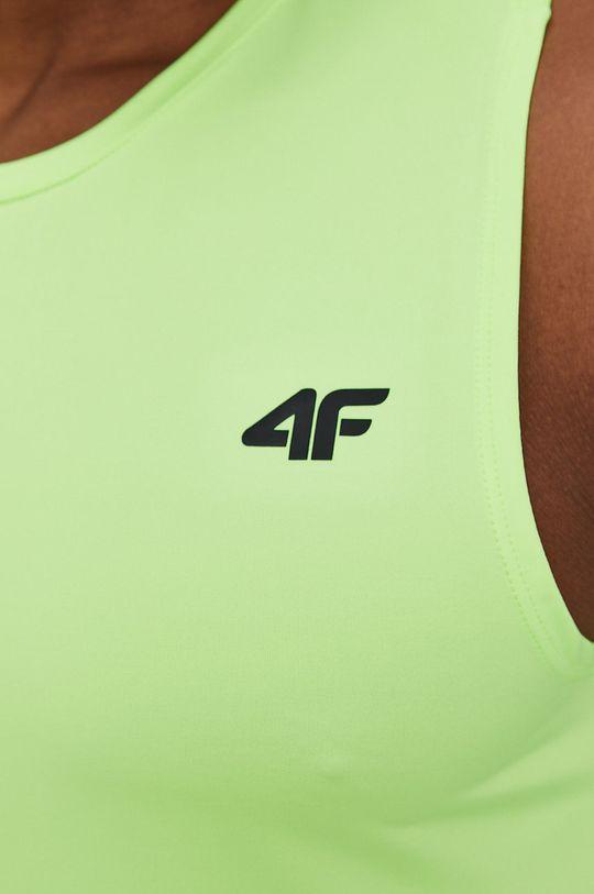 żółto - zielony 4F - T-shirt