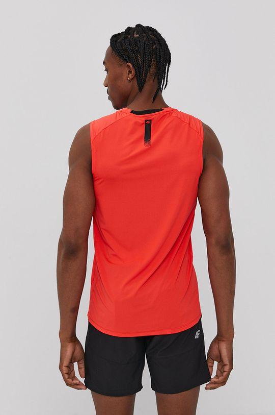 4F - T-shirt ostry czerwony