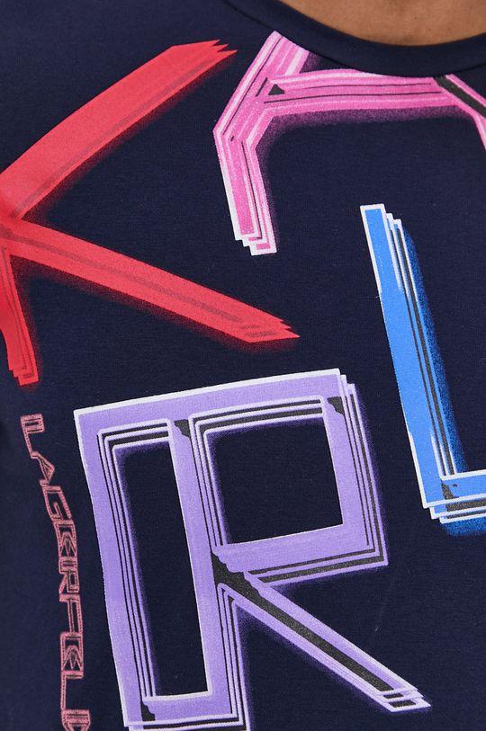 granatowy Karl Lagerfeld - T-shirt