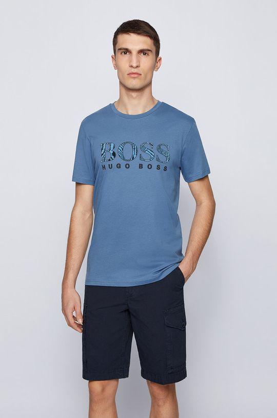 niebieski Boss - T-shirt Boss Casual Męski