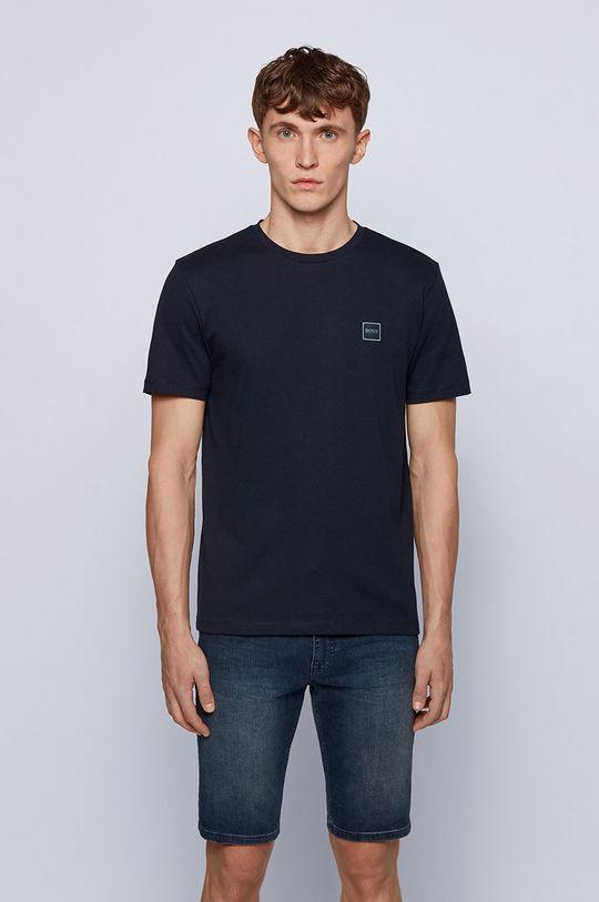 granatowy Boss - T-shirt Boss Casual Męski