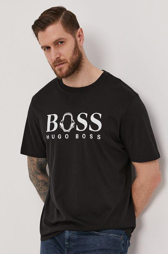 čierna Boss - Tričko Boss Casual Pánsky
