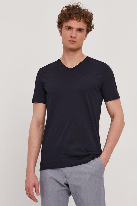 granatowy Boss - T-shirt Męski