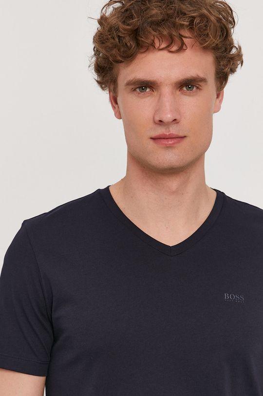 granatowy Boss - T-shirt