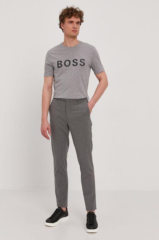 Boss - T-shirt szary