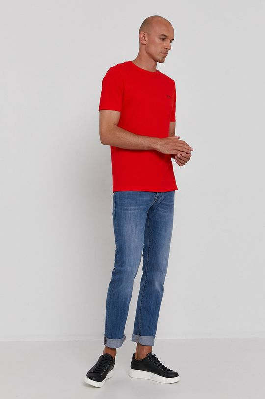 Boss - T-shirt Boss Athleisure ostry czerwony