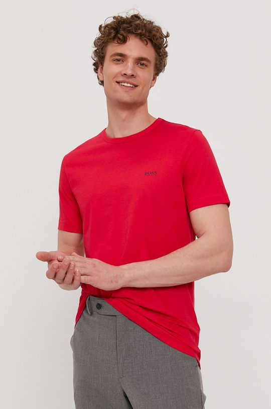 czerwony Boss - T-shirt Boss Athleisure Męski