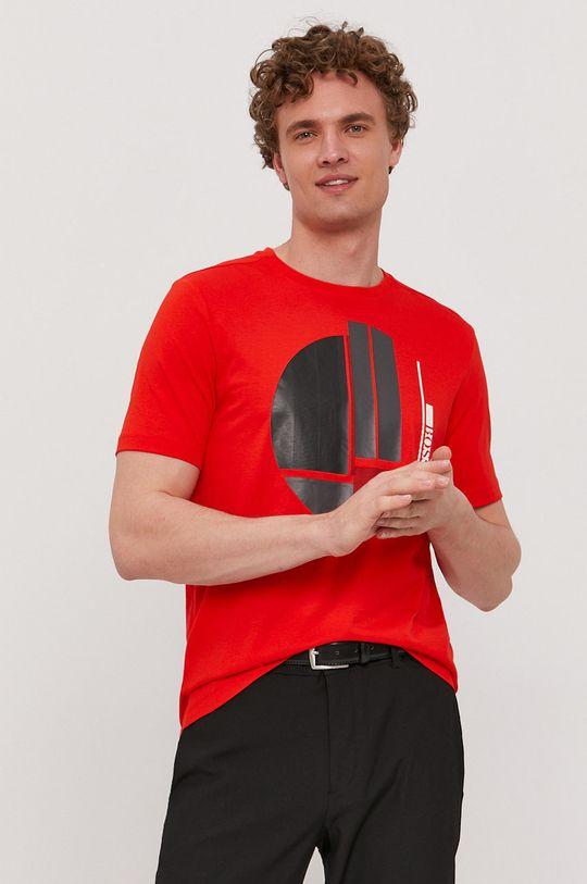 červená Boss - Tričko Boss Athleisure Pánsky