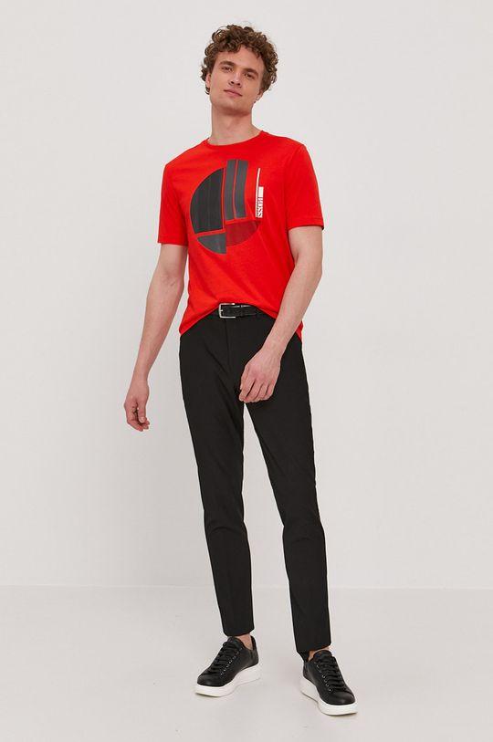 Boss - Tričko Boss Athleisure červená