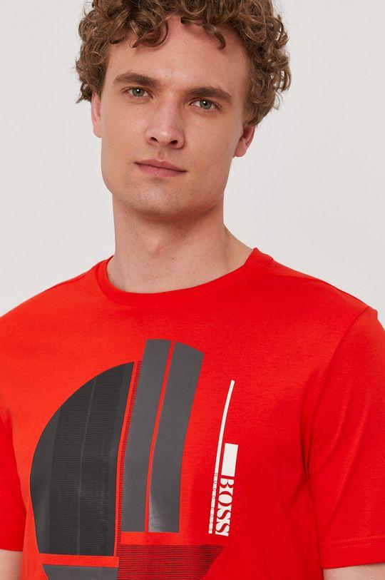 červená Boss - Tričko Boss Athleisure