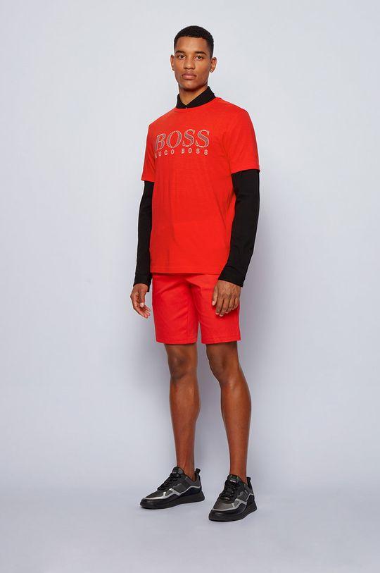 Boss - Tricou Boss Athleisure rosu