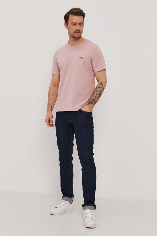Boss - Tricou roz pastelat