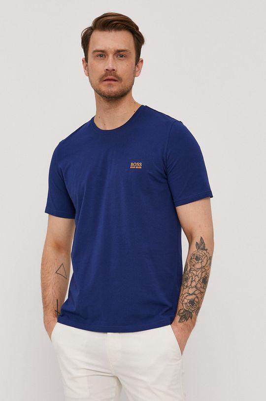 niebieski Boss - T-shirt Męski