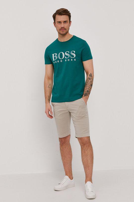 Boss - Tricou verde inchis
