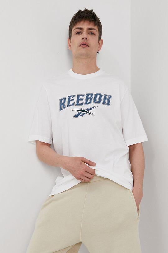 biały Reebok Classic - T-shirt Męski