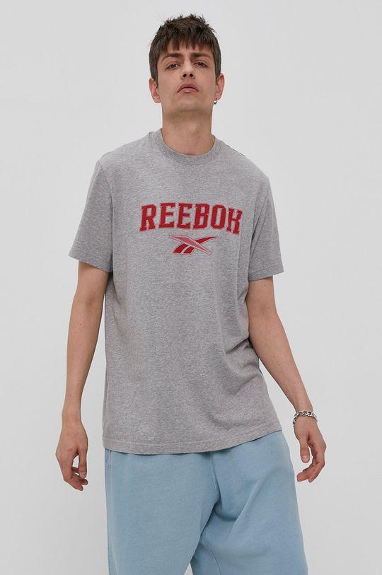 szary Reebok Classic - T-shirt Męski